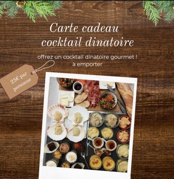 Carte Cadeau - Cocktail Dînatoire